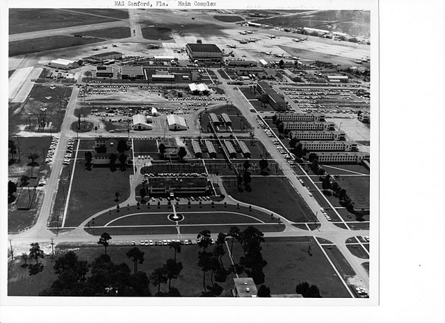 An aerial view of the base taken in 1958.