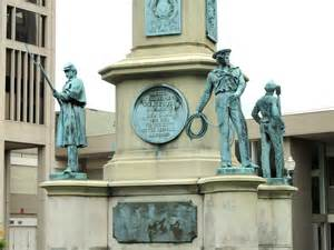 The statue honors the soldiers from Worcester who fought for the Union in the Civil War.