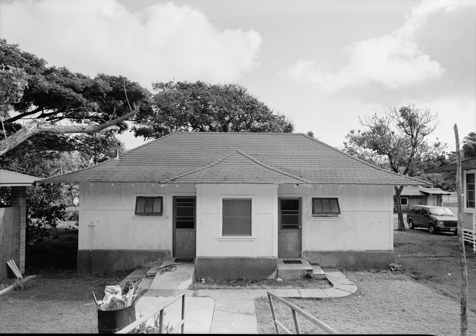 The fumigation hall, one of many structures at the site.