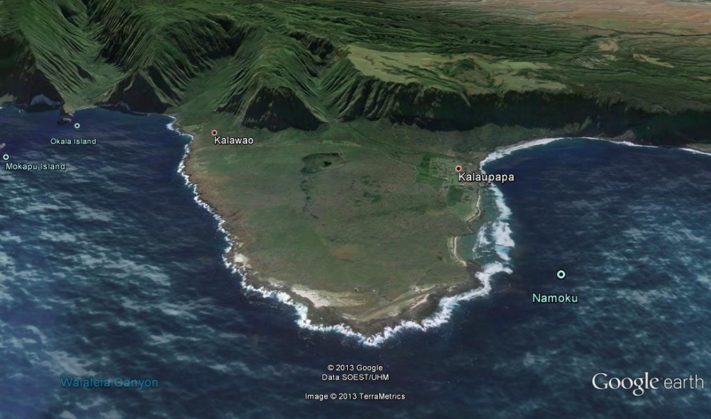 Google earth map showing the peninsula looking southward.