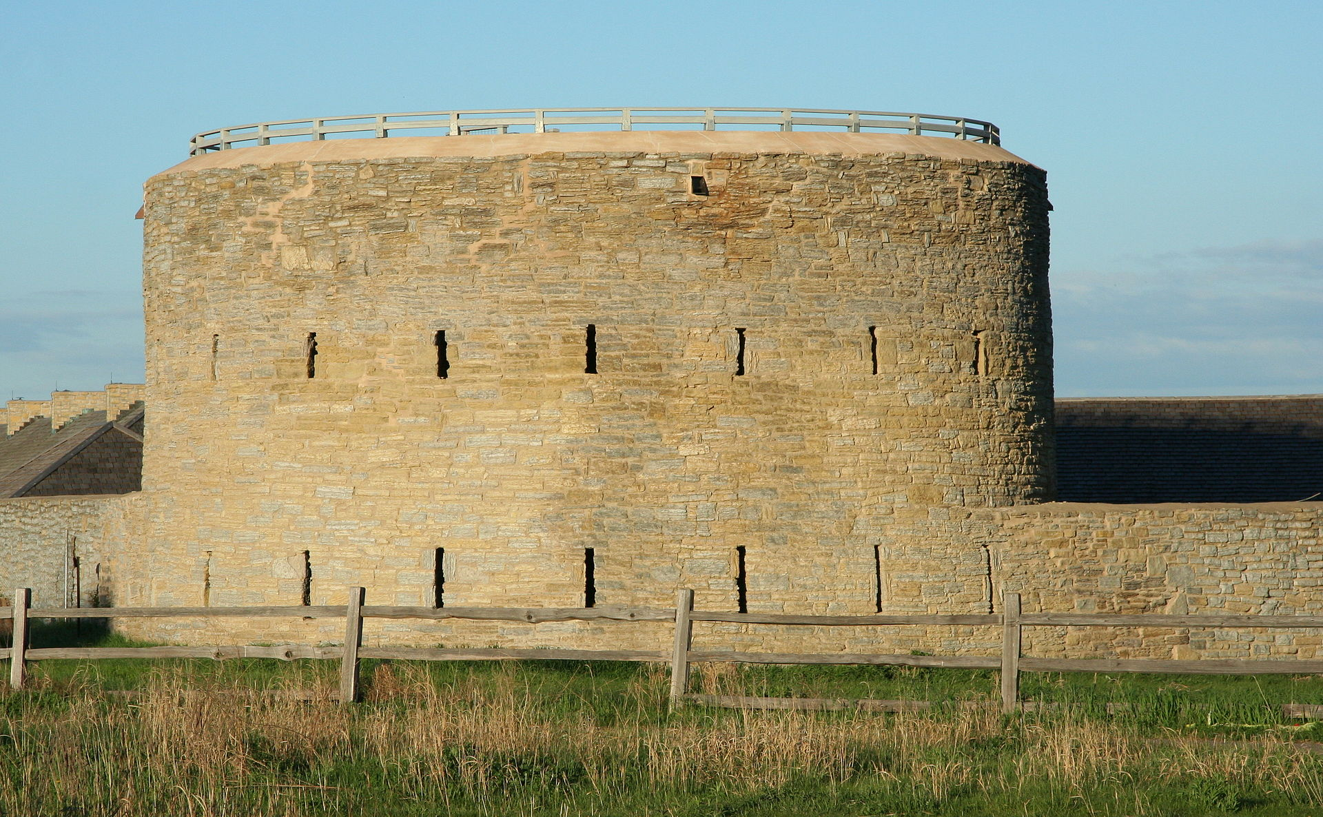 This round tower is located at the west side of the fort.