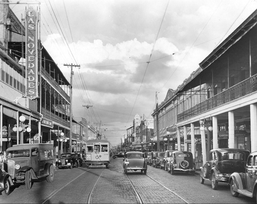 7the Ave. Noveades on left with new sign. 1937