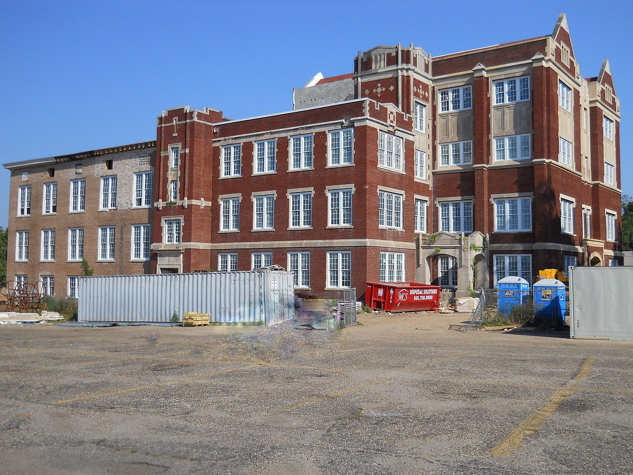 Old Hattiesburg High School being converted into a senior home.
