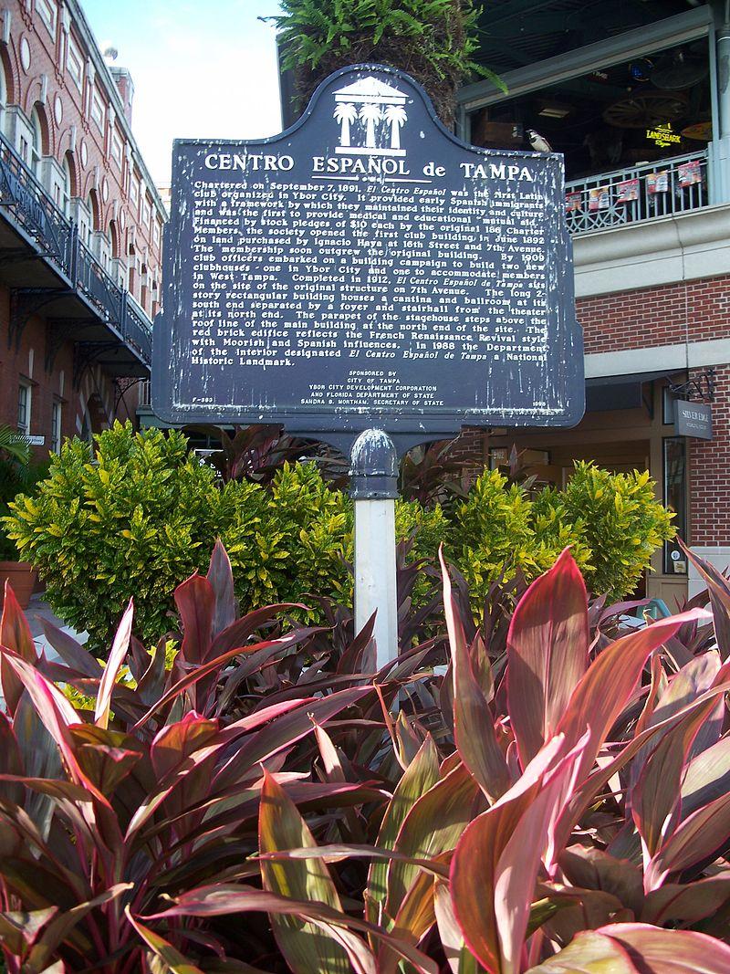 Marker for El Centro Español de Tampa