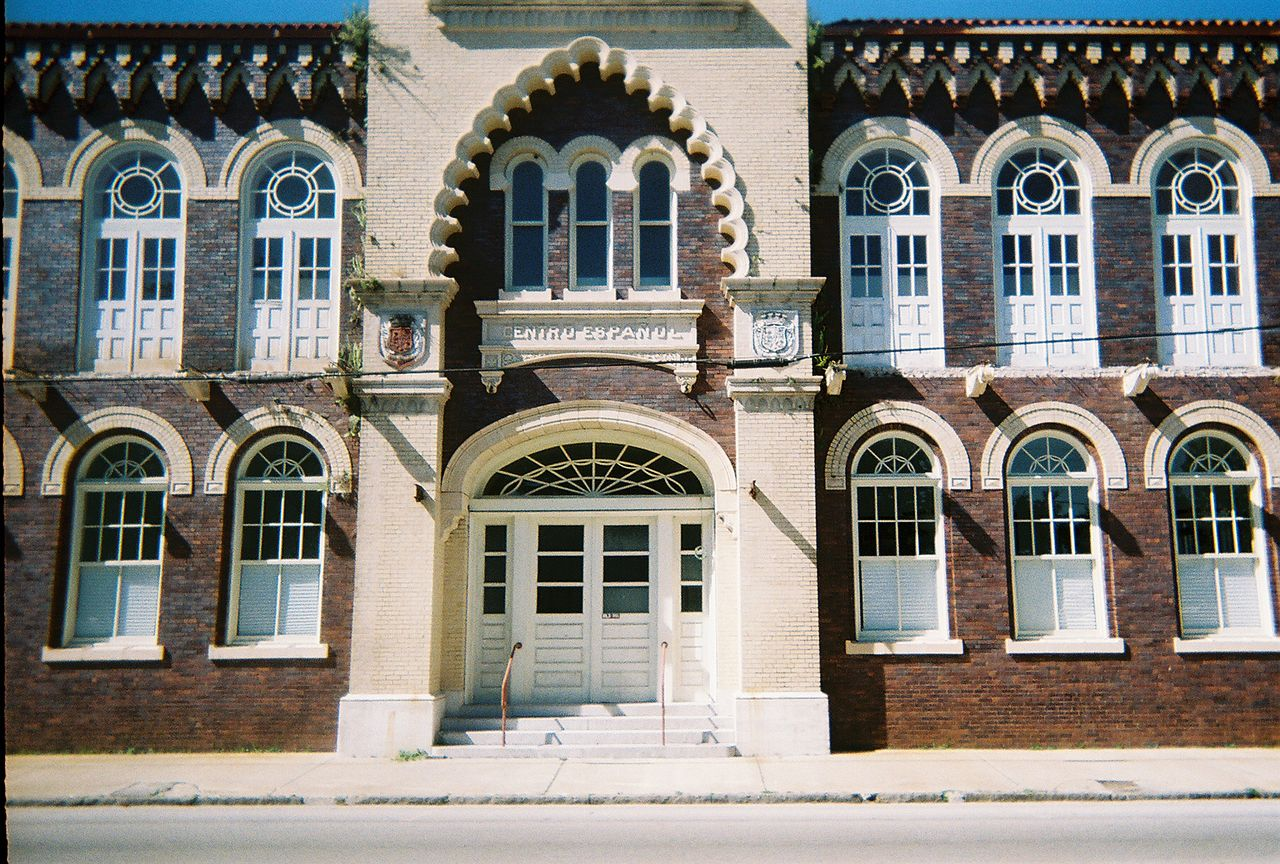 El Centro Español of West Tampa entranceway prior to renovations