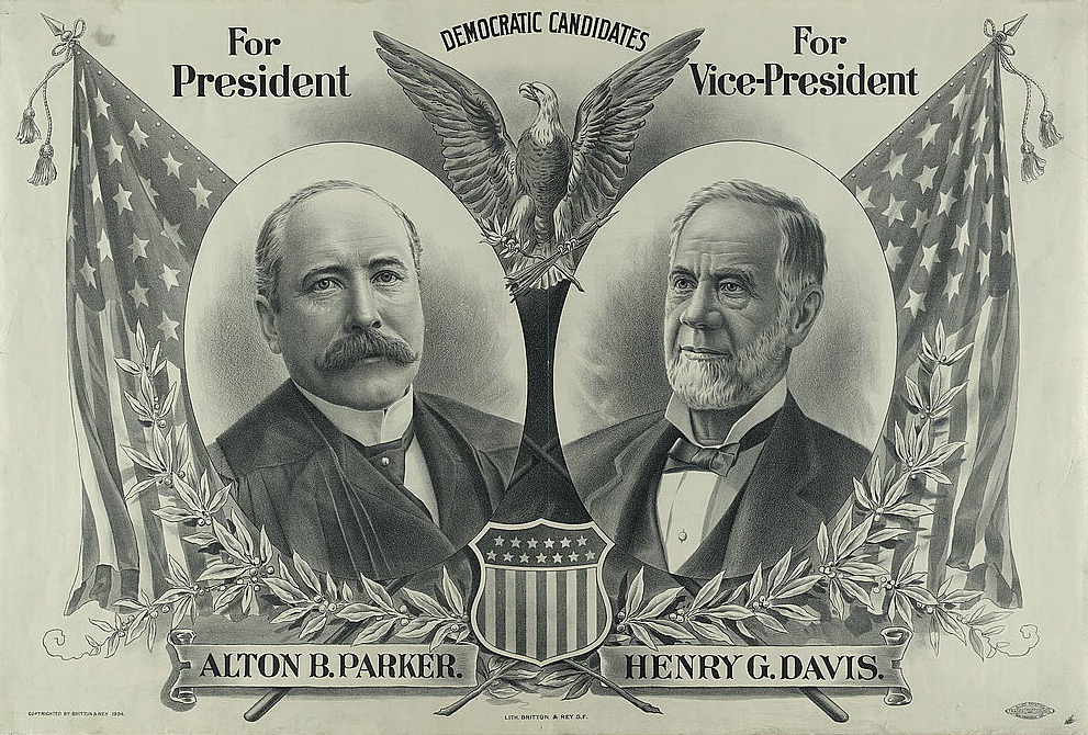 1904 Parker/Davis Democratic presidential candidate poster