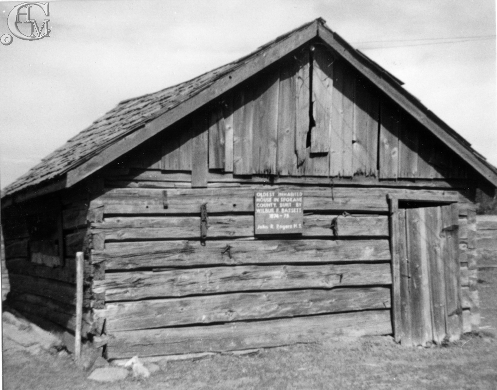Roger's High School students placed a sign on the cabin in 1954.