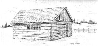 Sketch of the Bassett cabin