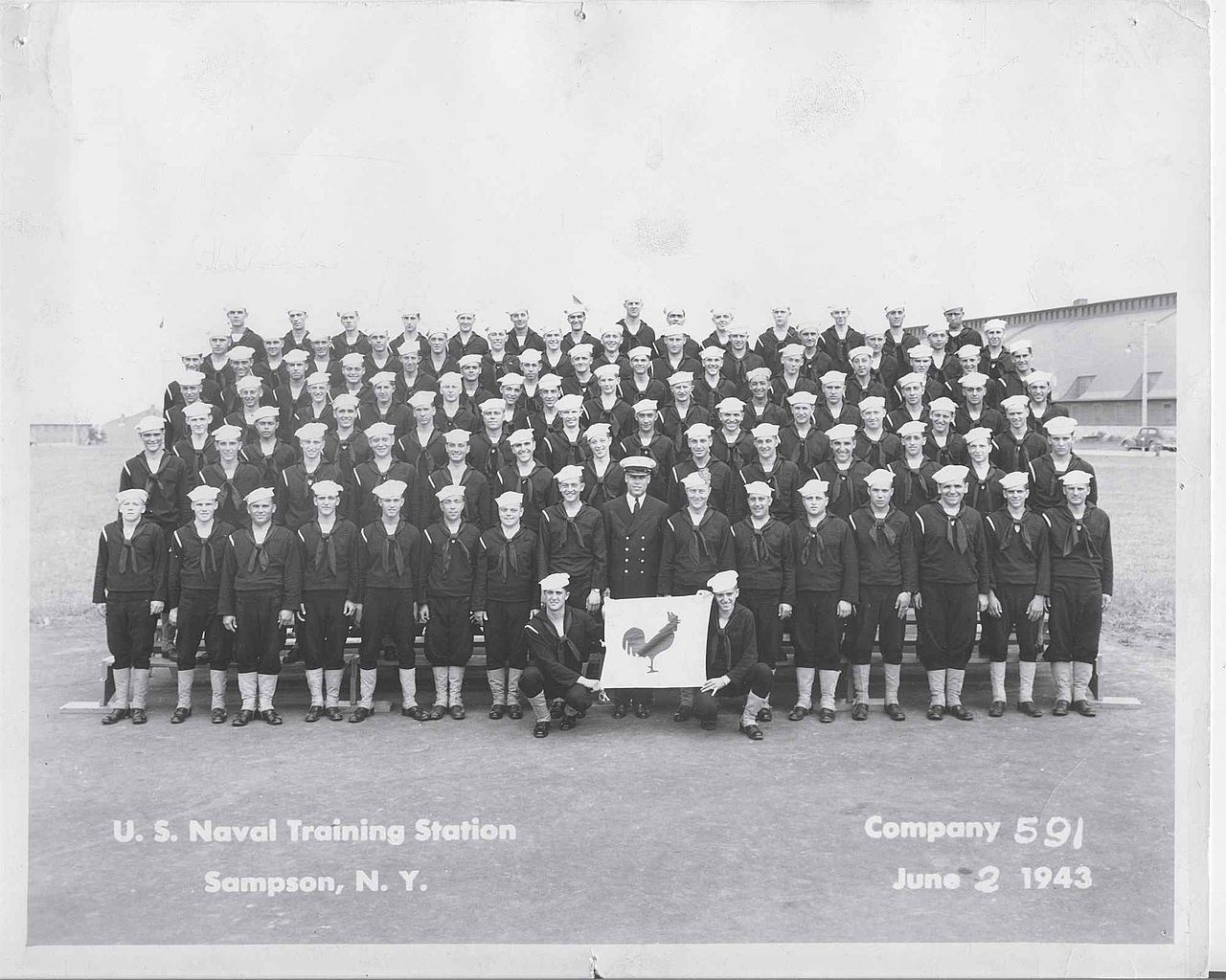 Navy graduate photo, Company 591 June 2, 1943