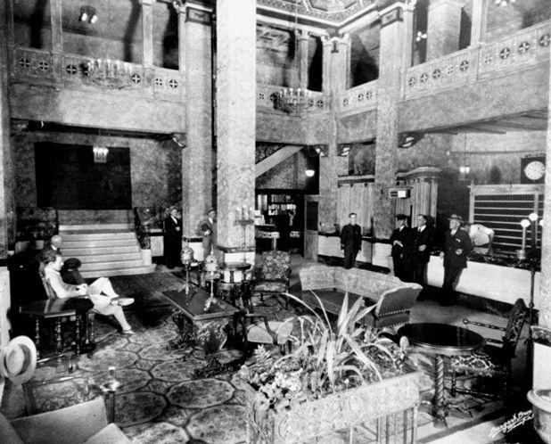 Hotel lobby, 1930s-1940s