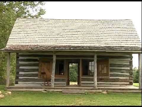 The Parker log cabin