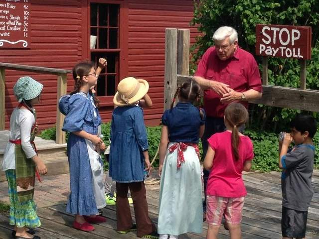 School tours are a major part of the village's educational mission