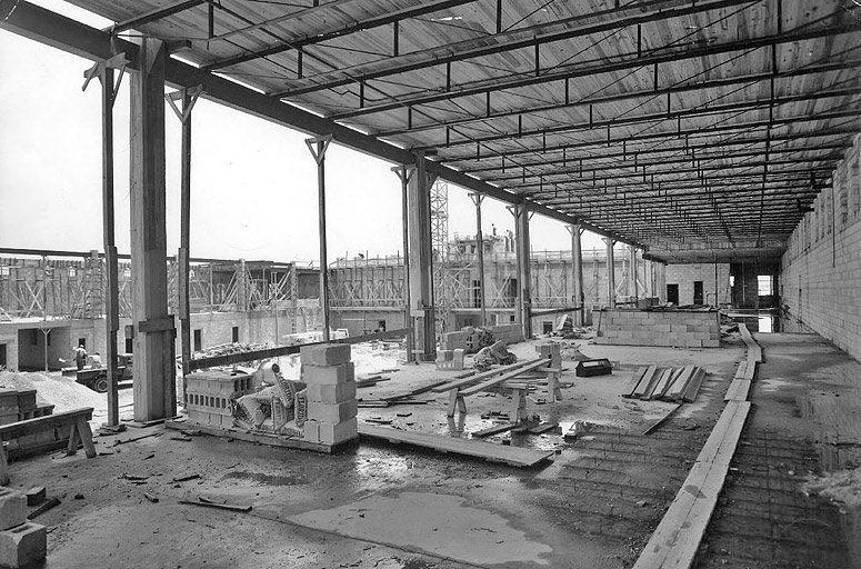 Construction work in 1940
