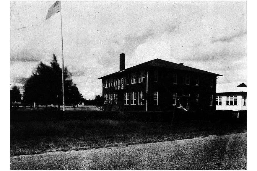 early 1900s photo of the school