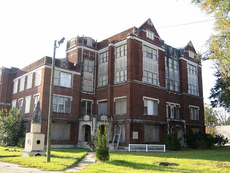 Old Hattiesburg High School as seen in 2004.
