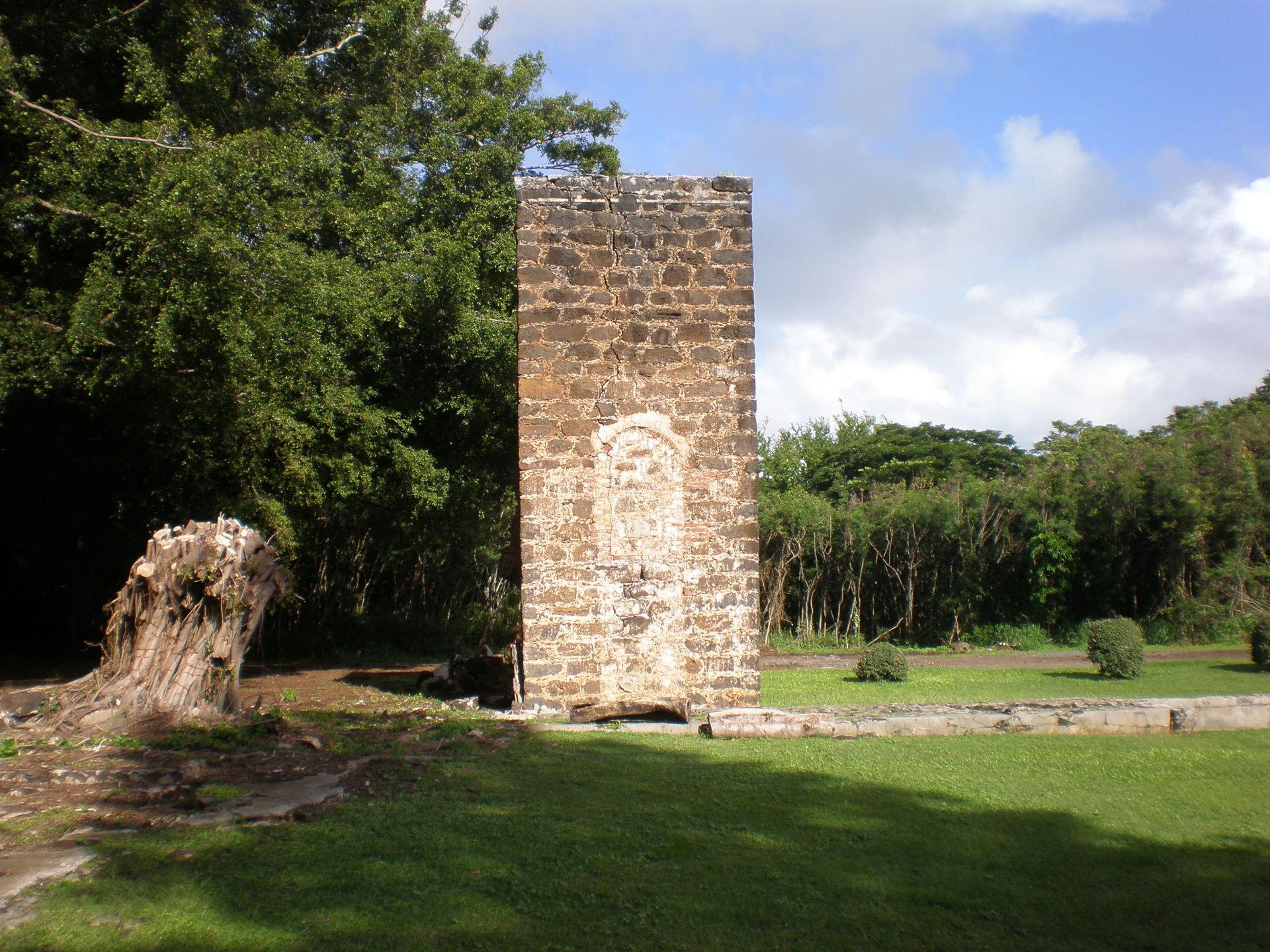 The plantation ruins