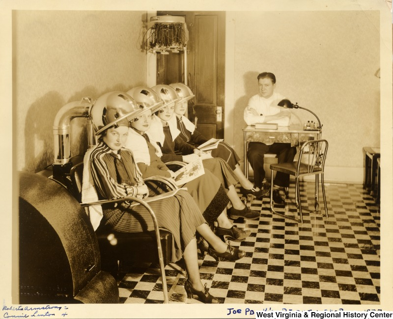 Example of Collections: Interior of Joe Ponka's Beauty Shop ca. 1937 IDNO: 000029