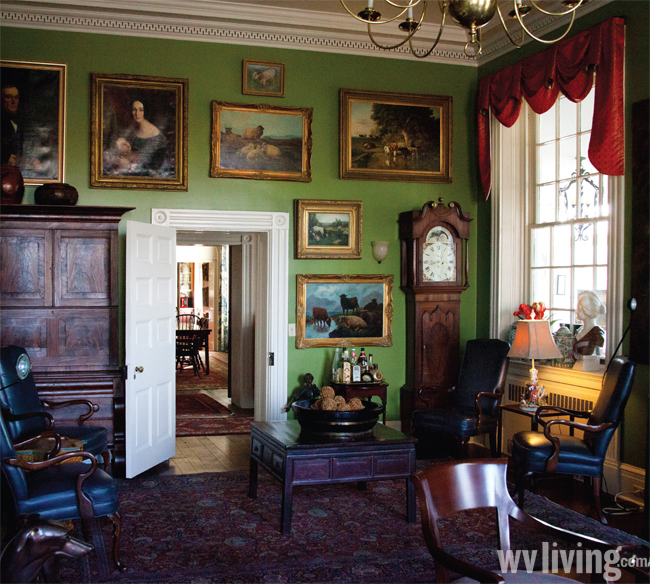 Inside the Waitman T. Willey house.
