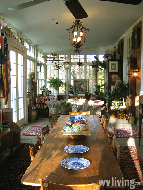 Inside the Waitman T. Willey house