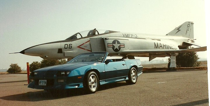 Jet display on former base (1991 photo)