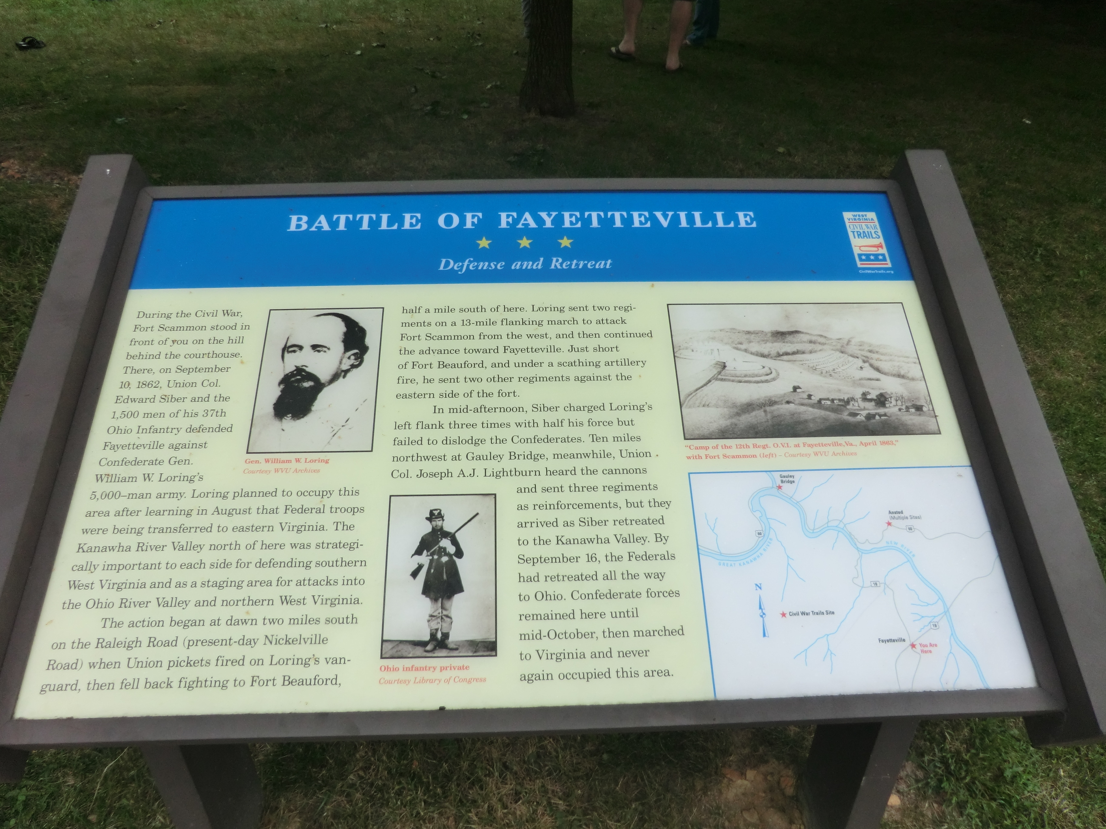 Battle of Fayetteville Marker