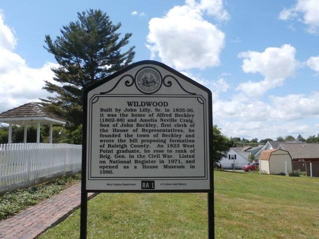 "Former home of Gen. Alfred Beckley ""Wildwood House"" built 1835-36"