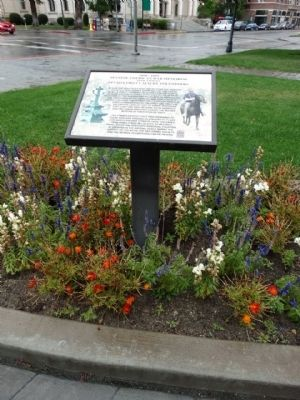 This historical marker provides a historical overview of the memorial fountain.