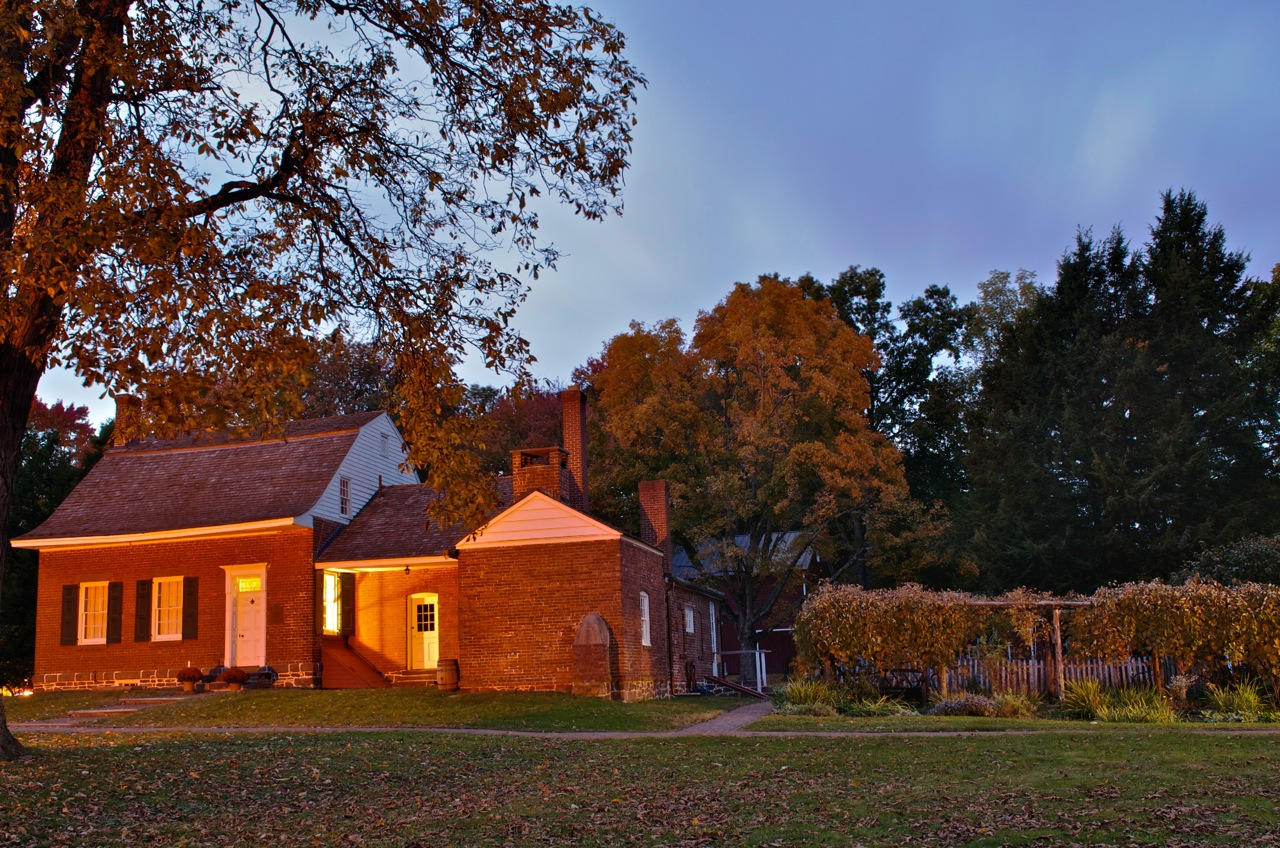 The Jacob Blauvelt House,  sunset.  Photo credit:  Dorice Arden