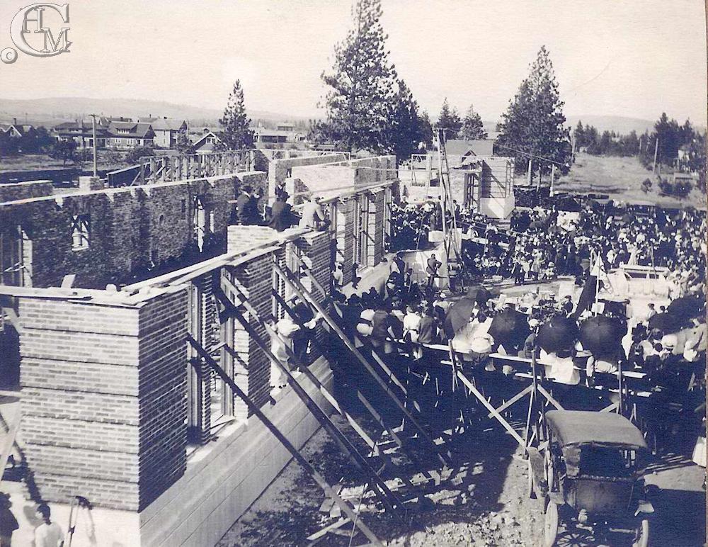 Laying the cornerstone June 27, 1914