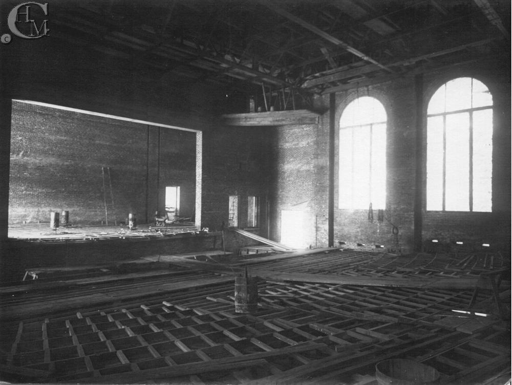 Construction of the auditorium