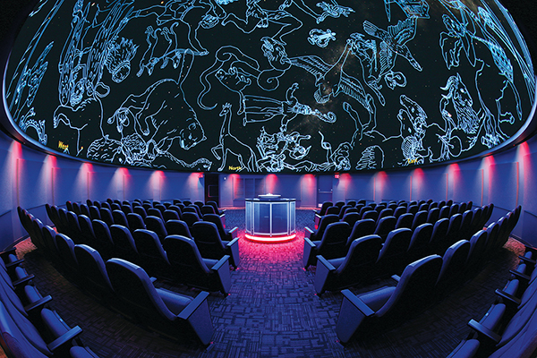 Interior of the planetarium