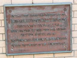 This marker was placed by the Stonewall Jackson chapter of the United Daughters of the Confederacy.