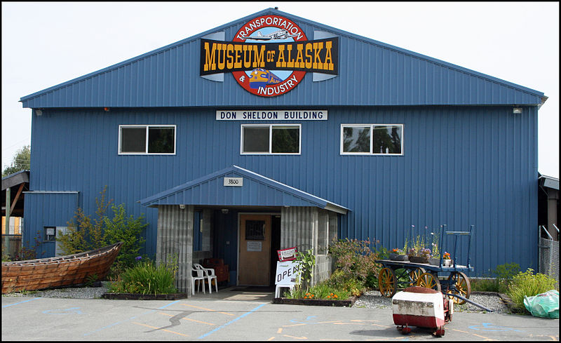 The Museum of Alaska Transportation  Photo by: Jeffrey Beall, via Wikimedia Commons. https://commons.wikimedia.org/wiki/File:Museum_of_Alaska_Transportation_and_Industry.jpg