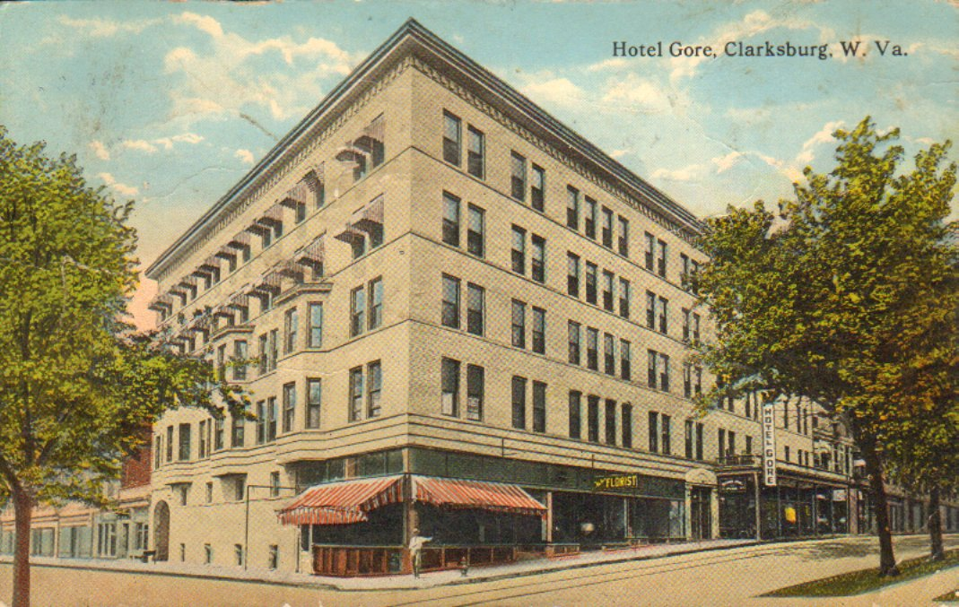 Color postcard of the Hotel Gore in 1916