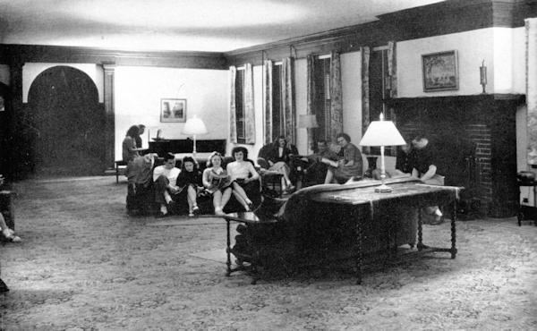Monroe Hall lounge 1947
