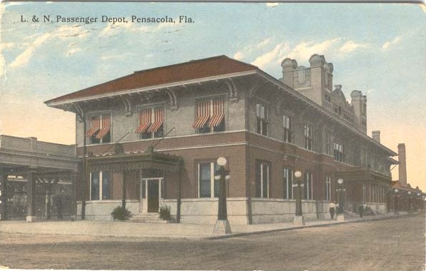 early 20th century postcard of the building