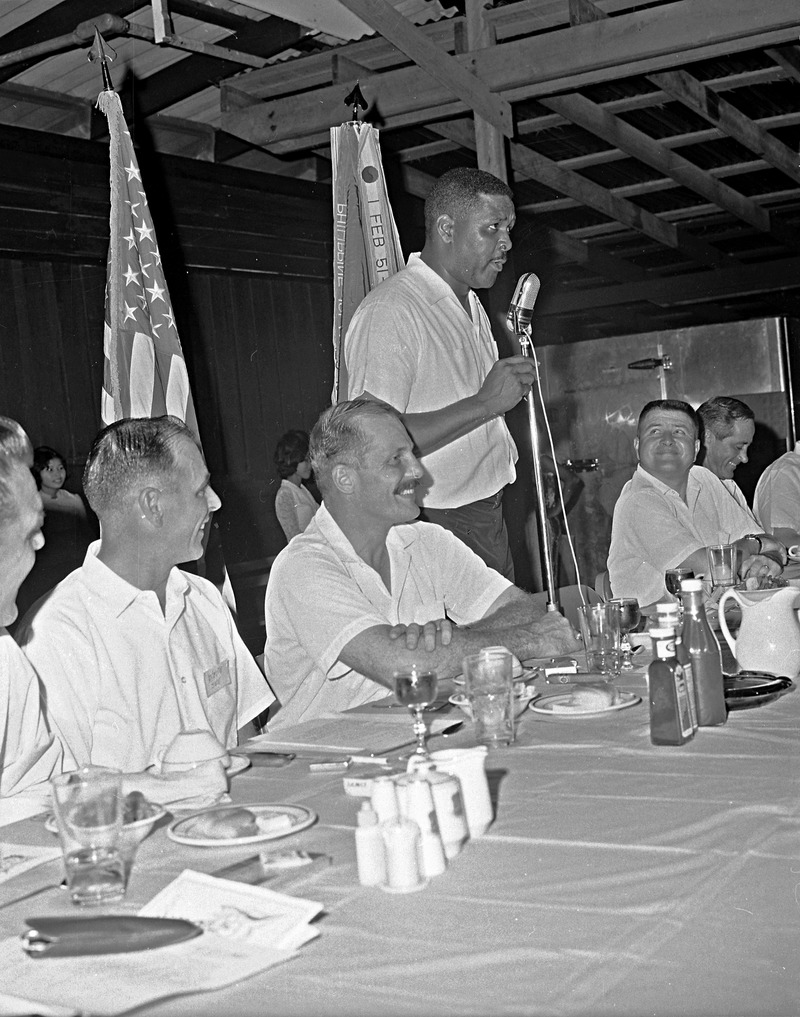 James speaking at a conference in Thailand, 1967