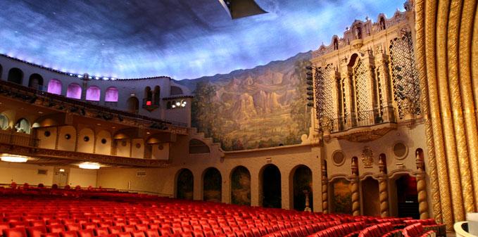Interior of the theatre.