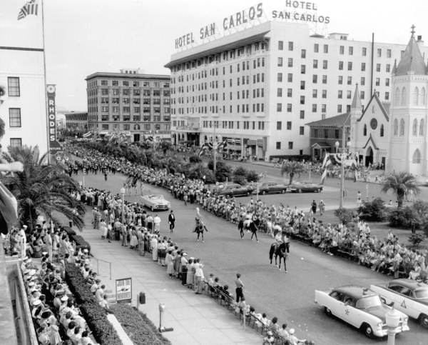 Hotel during a 1955 parade