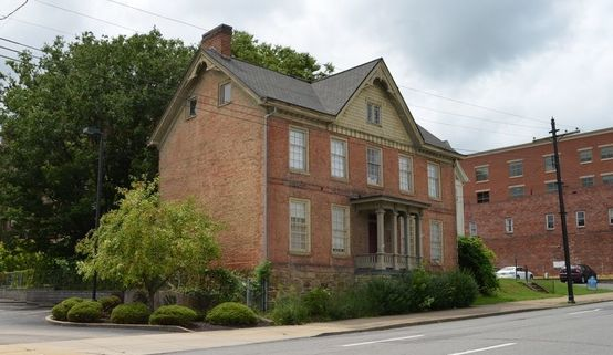This gable roofed Victorian home dates back to 1807 and is owned by the Harrison County West Virginia Historical Society.