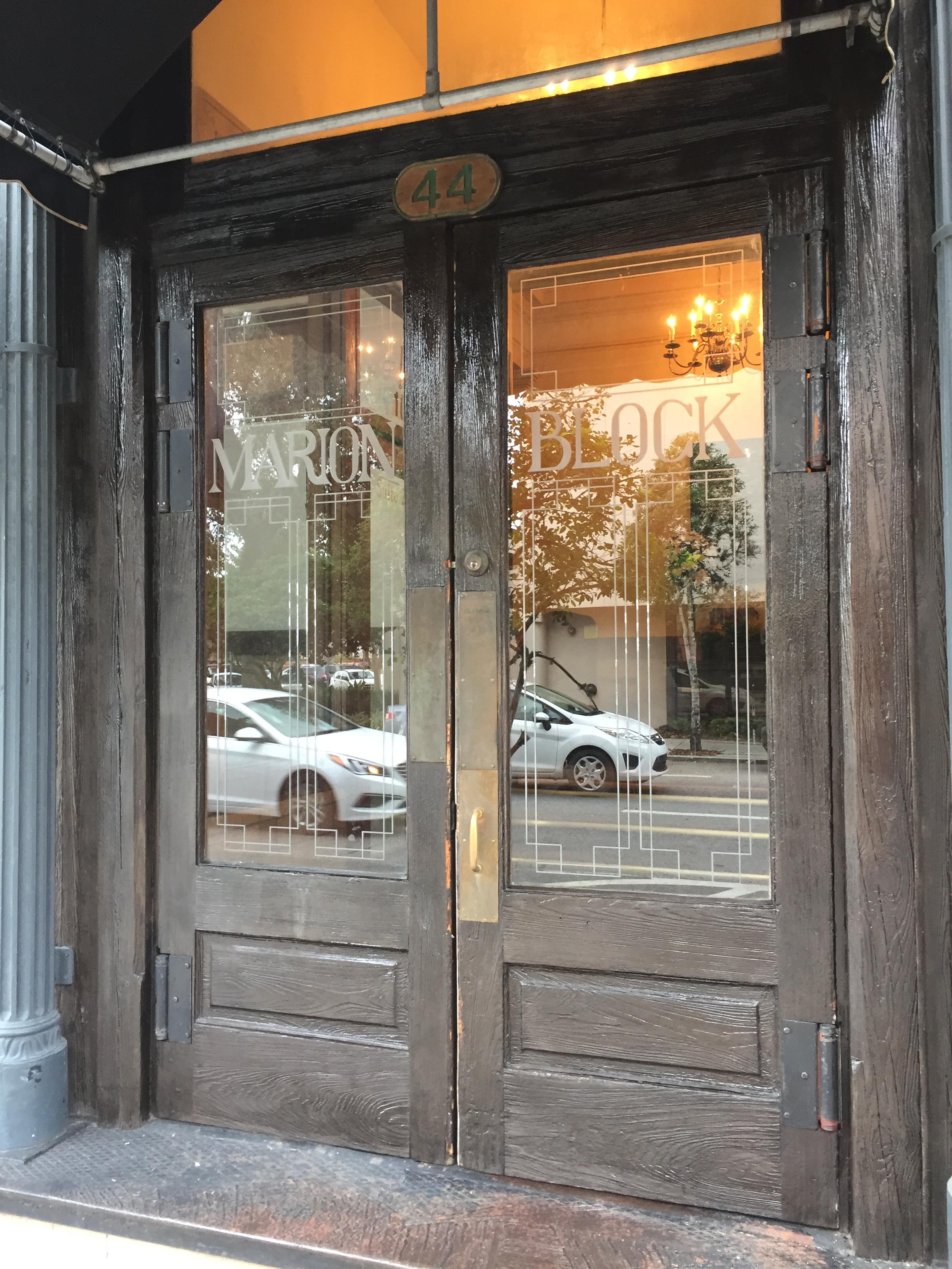 Doors facing 1st Ave