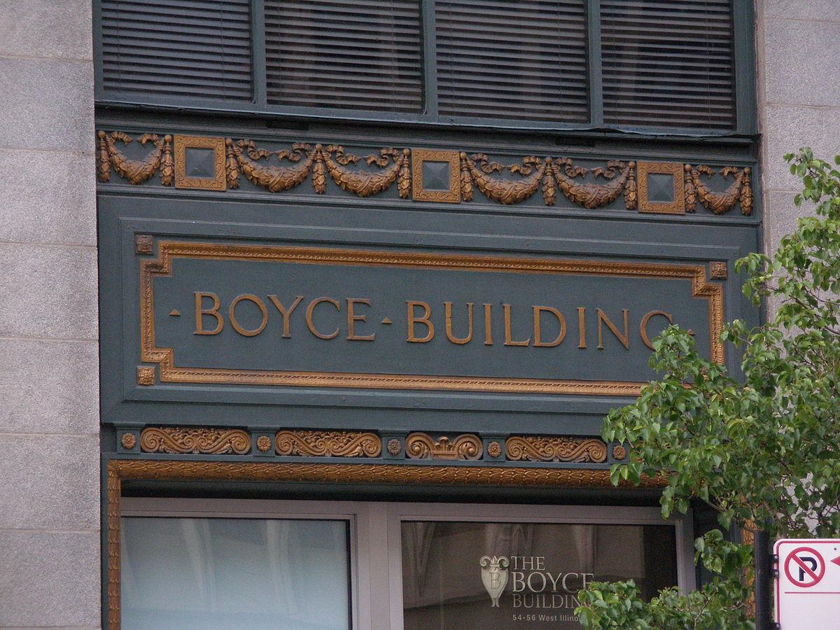 Photo Credit: https://en.wikipedia.org/wiki/William_D._Boyce#/media/File:BoyceBuildingFront.jpg