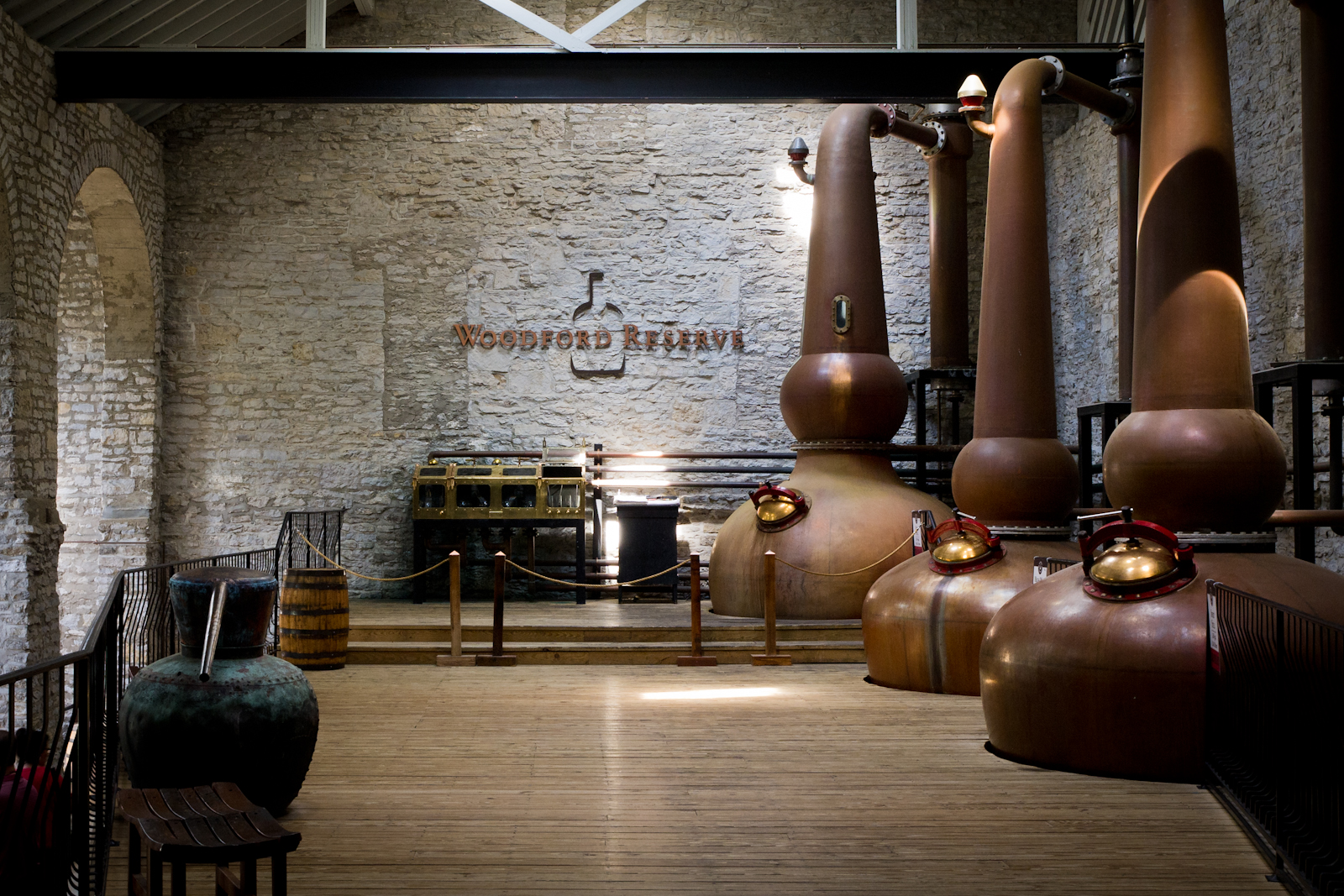 The Woodford Reserve Distillery still room
