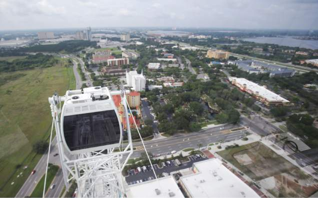 A view of Orlando from the top of the Eye