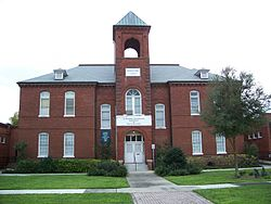 The Sanford Grammar School as it appears today. It closed indefinitely in 2015. Photo: Ebyabe, via Wikimedia Commons.