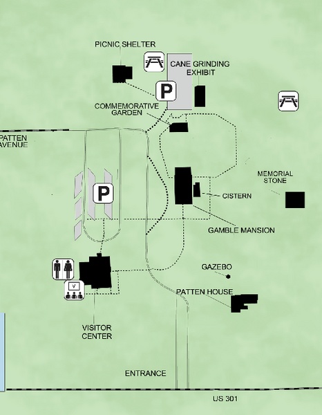 Map of the plantation grounds.