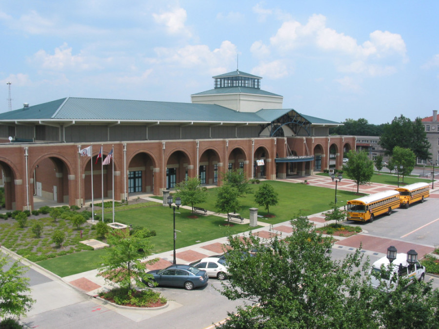 Exterior of the Georgia Sports Hall of Fame