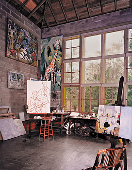 The 1893 Chicago World's Fair inspired Frederic Clay Bartlett to become an artist, where examples of his work are now displayed in the Bonnet House studio.