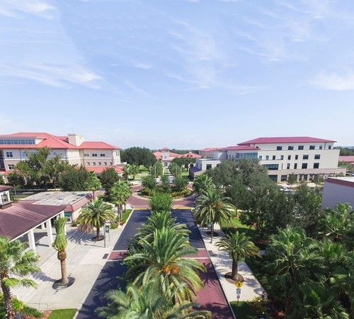 Aerial view of the university