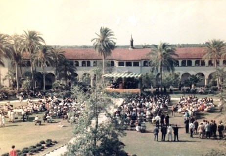 Old aerial view of the university.